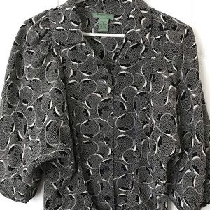 Black and white Maple blouse from Anthropologie